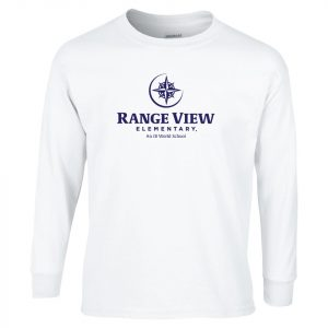 Range View Elementary School Adult White Long Sleeve Cotton T-shirt