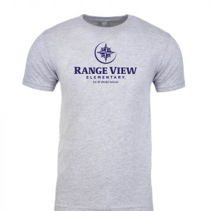 Range View Elementary School Adult Grey Short Sleeve Cotton T-Shirt
