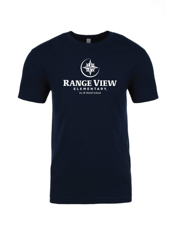 Range View Elementary School Adult Navy Short Sleeve Cotton T-Shirt
