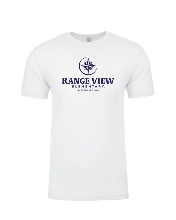 Range View Elementary School Adult White Short Sleeve Cotton T-Shirt