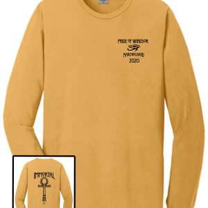 Windsor High Marching Band Show Shirt Port and Company PC099LS long sleeve in dijon
