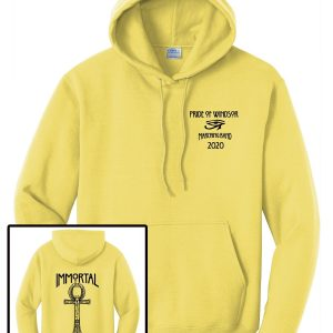 Windsor High Marching Band Show Hoodie Port and Company PC78H in yellow