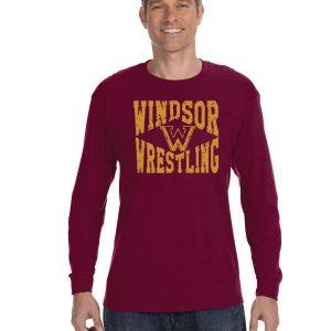 WMS Wrestling Adult Long Sleeve Cotton T-shirt