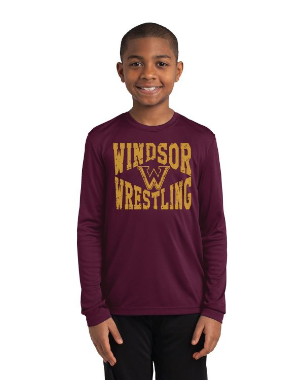 WMS Wrestling Youth Performance Long Sleeve T-Shirt