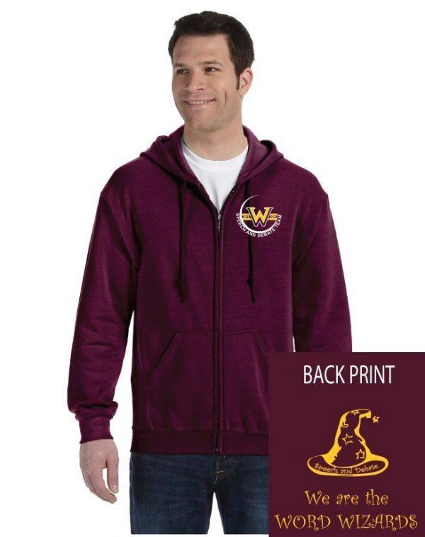 WMS Speech and Debate Adult Zip Hooded Sweatshirt